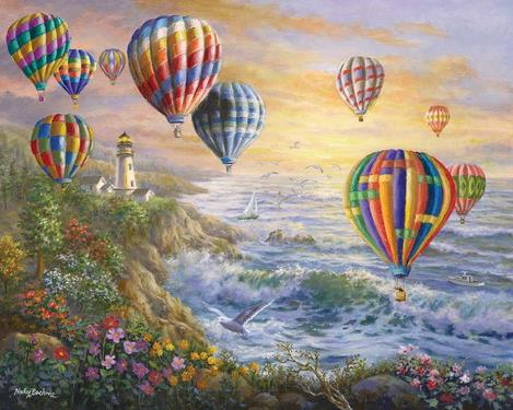 Hot Air Balloon Diy Paint By Numbers Kits UK PP0164