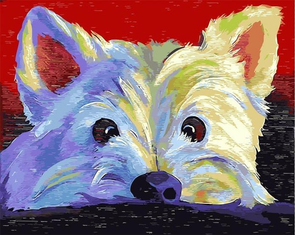 Colorfu Lovely Dog Paint By Numbers Kits UK PE0102