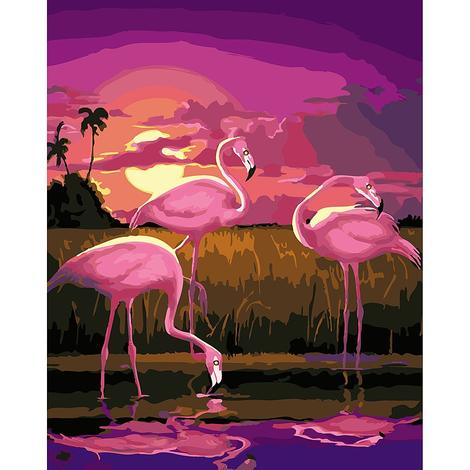 Flamingo Diy Paint By Numbers Kits UK AN0175