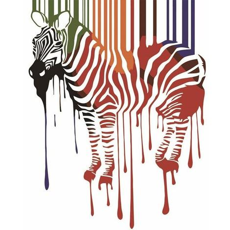 Zebra Diy Paint By Numbers Kits UK AN0803