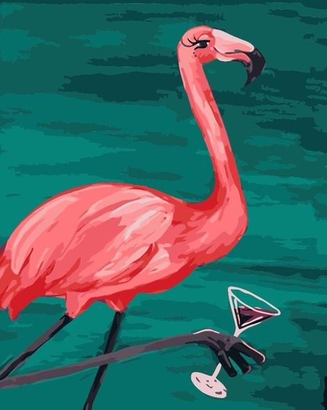 Flamingo Diy Paint By Numbers Kits UK AN0174