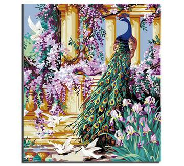 Peacock Diy Paint By Numbers Kits UK AN0670