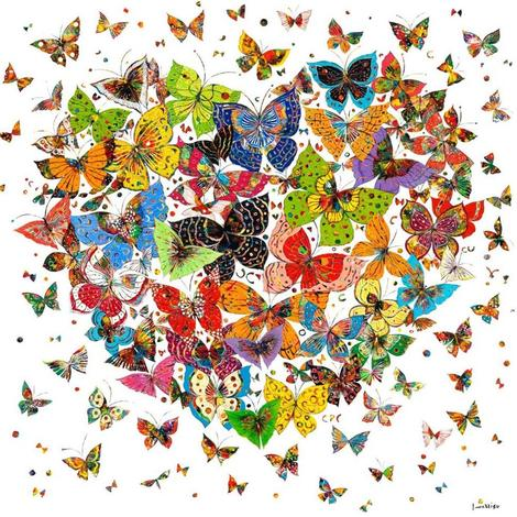Butterflies Diy Paint By Numbers Kits UK PO0074