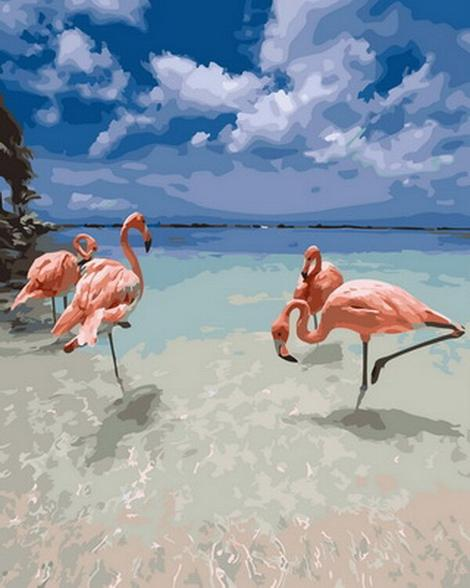 Flamingo Diy Paint By Numbers Kits UK AN0172