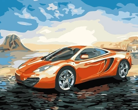Sports Car Diy Paint By Numbers Kits UK VE0029