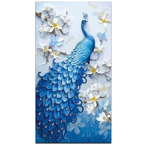 Peacock Diy Paint By Numbers Kits UK AN0664