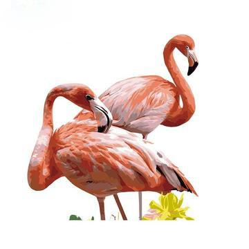 Flamingos Diy Paint By Numbers Kits UK AN0194