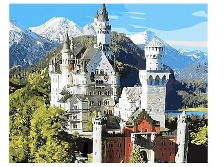 Neuschwanstein Castle Germany Diy Paint By Numbers Kits UK BU0068