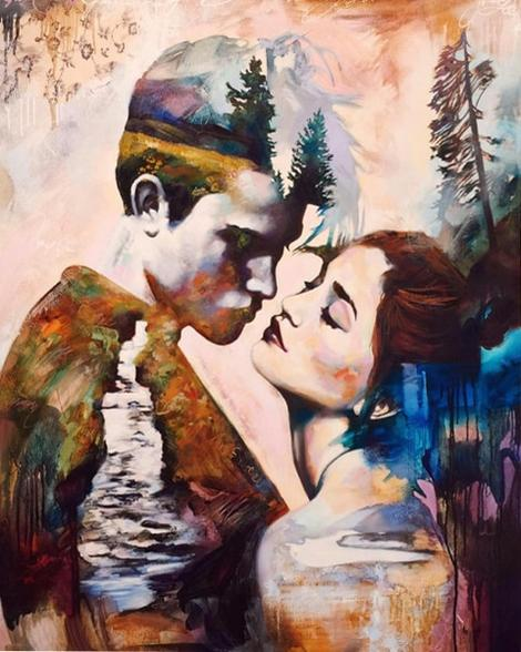 Lovers Portrait Diy Paint By Numbers Kits UK PO0093