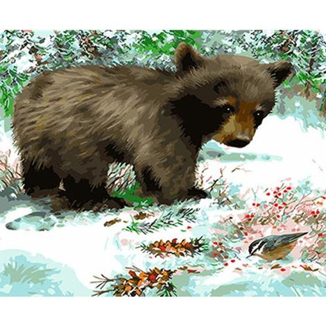 Bear Diy Paint By Numbers Kits UK AN0536