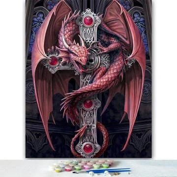 Dragon Paint By Numbers Kits Diy UK MA138