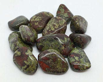 Dragons Blood Jasper Crystal 3 Tumbled Stones Gemstones