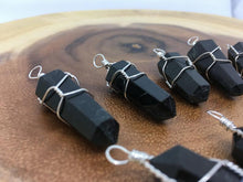 Load image into Gallery viewer, Black Tourmaline Crystal Gemstone Pendant Jewelry Wire Wrapped