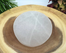 Load image into Gallery viewer, Selenite Charging Plate 4 inch Crystal Energy Natural Stone Slab Carving Triangle Circle