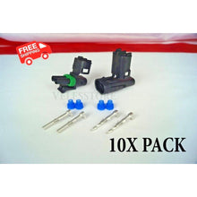 Load image into Gallery viewer, Delphi Weather Pack 2 Pin Sealed Connector Kit 16-14 GA 10 COMPLETE KITS