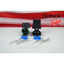 Load image into Gallery viewer, Delphi Weather Pack 2 Pin Sealed Connector Kit 16-14 GA 5 COMPLETE KITS
