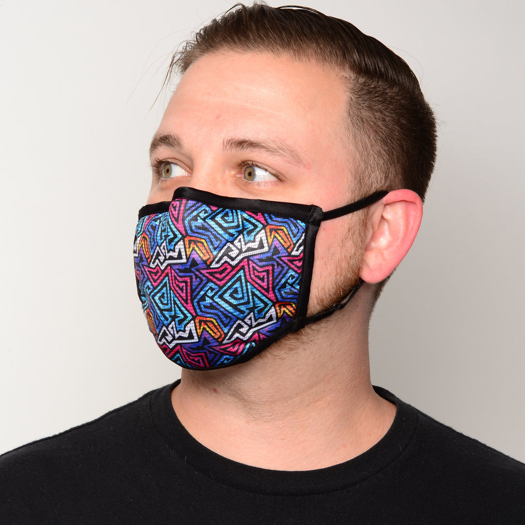 Artists' Collection Fitted Triple-layer Antimicrobial Filtered Masks