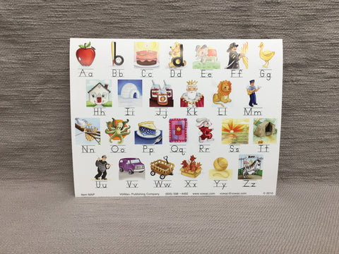 Mini Alphabet Poster  (MAP-Z or MAP-D)  (Multiples of 3's ONLY)