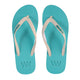 Waves Two Fold - Unisex White Blue 100% Natural Rubber Flip Flop