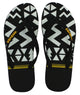 Waves Favorite - Unisex Black 100% Natural Rubber Flip Flop