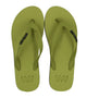 Waves Two Fold - Unisex Grey/Green 100% Natural Rubber Flip Flop