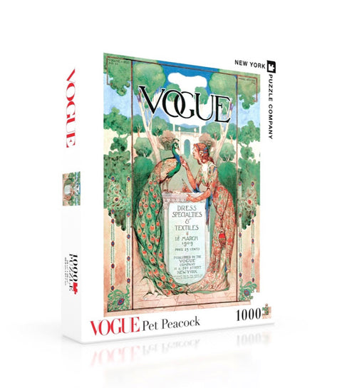 Vogue 1000 pc. Jigsaw Puzzle - Pet Peacock