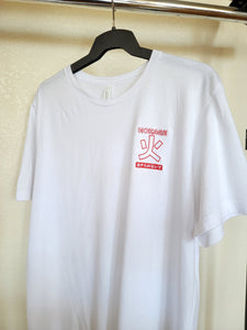 White Naruto Hokage Inspired Anime T-shirt on hanger