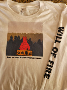 Naruto Will of Fire Long Sleeve Flat T-Shirt