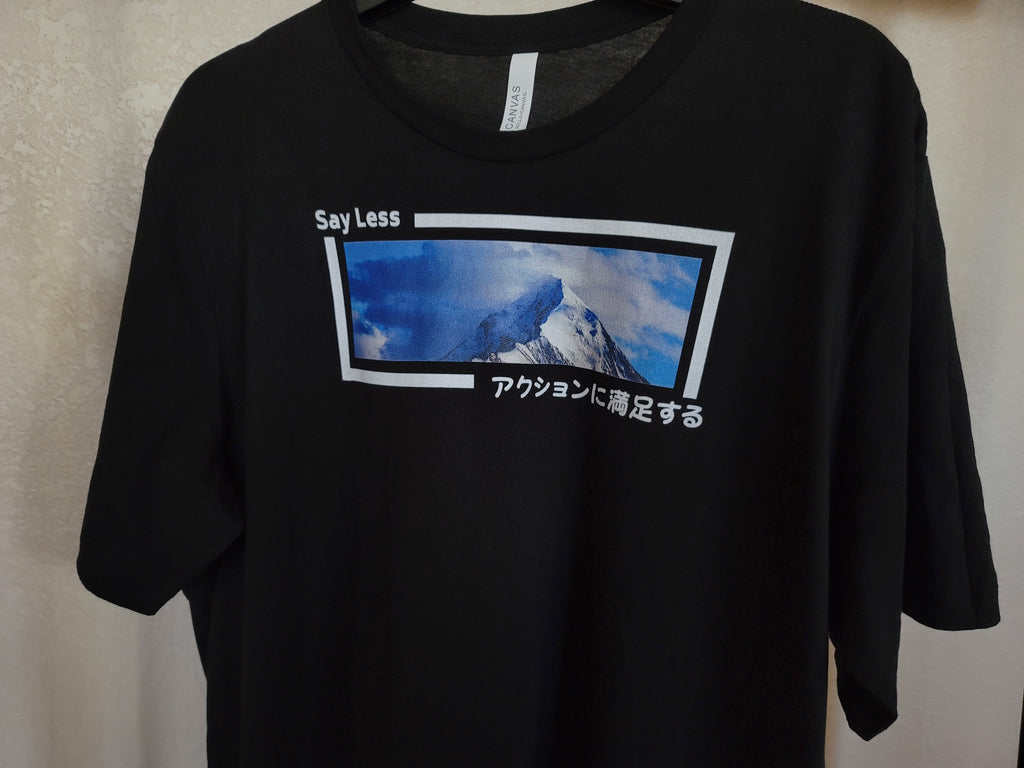 Say Less Kanji Graphic T-Shirt