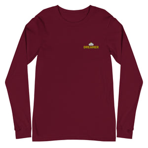 Oxford Dreamer Logo Long Sleeve T-Shirt flat mockup