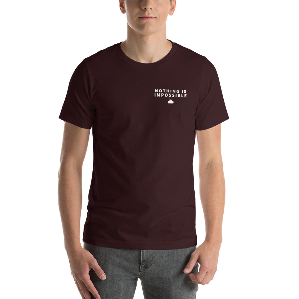 Oxford Nothing Is Impossible T-Shirt Mockup