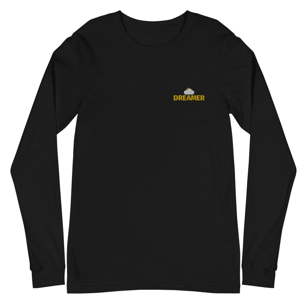 Black Dreamer Logo Long Sleeve T-Shirt flat mockup