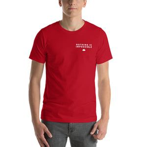 Red Nothing Is Impossible T-Shirt Mockup