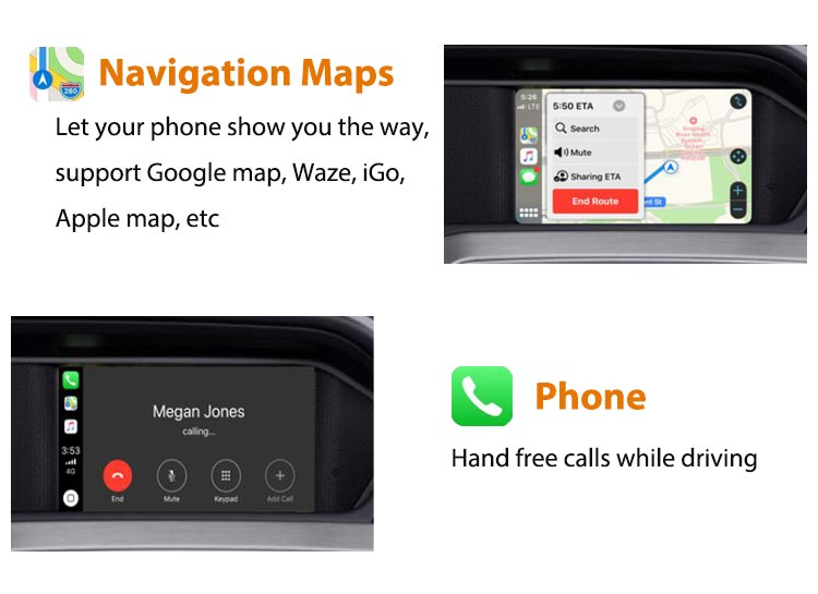 Mercedes Benz Apple Carplay Android Auto - GPS navigation maps