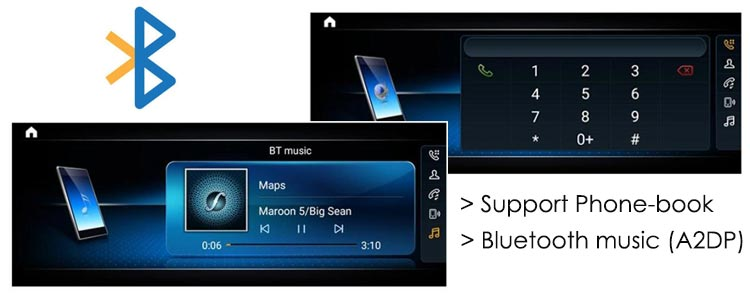 android navigation support bluetooth & bluetooth music - A2DP