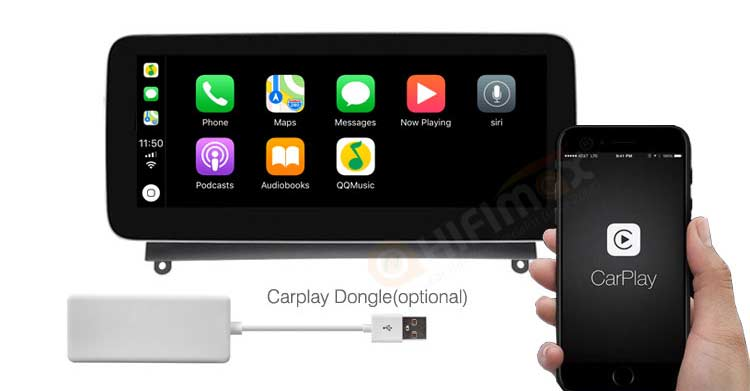 Mercedes-Benz C W204 S204 android navigation support Apple Carplay Android Auto!