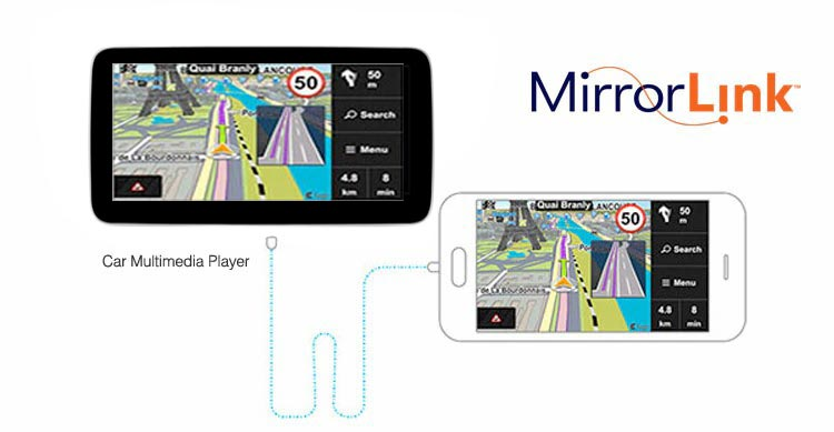 android navigation screen mirroring function
