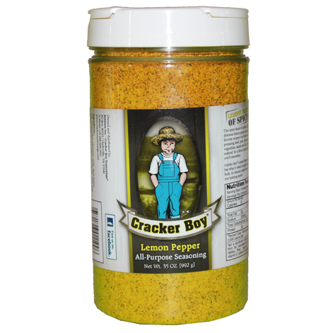 Cracker Boy Lemon Pepper Seasoning 35 Ounce