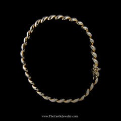 Beautiful San Marco Link Bracelet in Yellow Gold - The Castle Jewelry  - 2