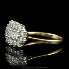 Stunning Cocktail Ring with Princess Cut & Round Diamonds in 14K Yellow Gold - The Castle Jewelry  - 2