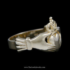 Classic Claddagh Ring Crafted in 14k Yellow Gold - The Castle Jewelry  - 2