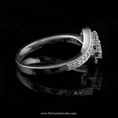 SPECIAL My Love My Best Friend 2 Round .50cttw Diamond Ring in 10K White Gold - The Castle Jewelry  - 2