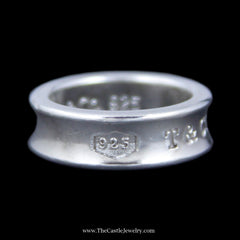 "Authentic Tiffany & Co. ""1837"" Ring w/ Concave Design Sides Crafted in Sterling Silver - The Castle Jewelry  - 2"