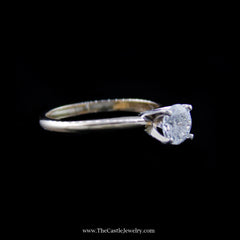 Stunning Round Brilliant Cut Diamond Solitaire Engagement Ring in Yellow Gold - The Castle Jewelry  - 2