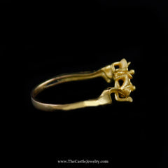 Beautiful Flower Design Ring in 21K Yellow Gold - The Castle Jewelry  - 2