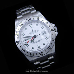 All Stainless Rolex Explorer II with White Dial & 24 Hour Bezel 16570 w/ 2 Year Warranty - The Castle Jewelry  - 2