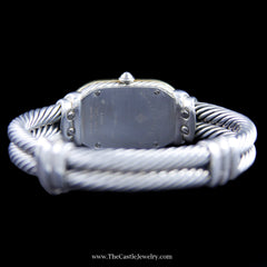 David Yurman Mother of Pearl Cable Watch Sterling Silver & 18K T408-M85 - The Castle Jewelry  - 2