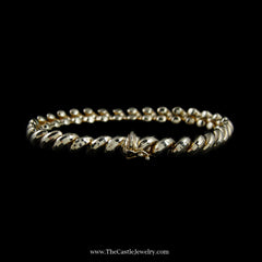 Beautiful San Marco Link Bracelet in Yellow Gold - The Castle Jewelry  - 3