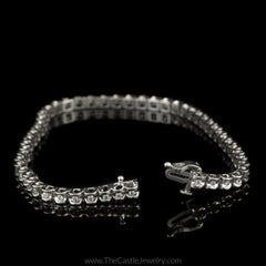Diamond Illusion 1/2cttw Tennis Bracelet in 14K White Gold - The Castle Jewelry  - 3