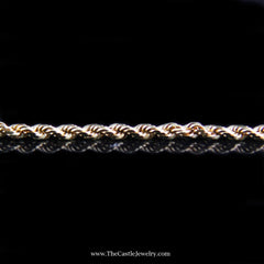 Rope Chain 18 Inches 2mm 8.4 Grams in 14K Yellow Gold - The Castle Jewelry  - 3